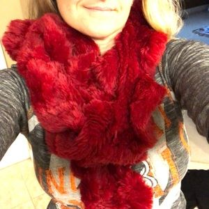 """Accessories - 🌻🌻Red scarf. 48"""" long. Super soft and cute"""